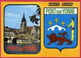 -- PONT Sur YONNE (Yonne) - BLASON -ECUSSON ADHESIF -- - Pont Sur Yonne