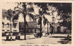 IGLESIA MATRIZ Y CURIA. SANTA FE, ARGENTINE. CIRCA 1930s VINTAGE LANDSCAPE - BLEUP - Argentinië