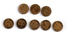 Un Lot De 8 Pièces De 2 Francs-France-voir état - Monnaies & Billets