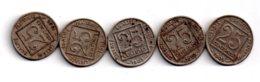 Un Lot De 5 Pièces De 25 Centimes-France-voir état - Monnaies & Billets