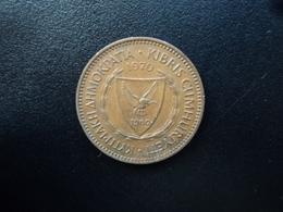 CHYPRE : 5 MILS  1970    KM 39    TTB+ - Chypre