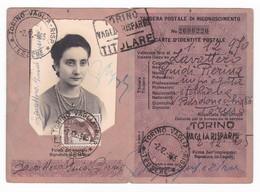 TESSERA POSTALE DI RICONOSCIMENTO - CARTE D'IDENTITE' POSTALE - 1965 - 1961-70: Marcophilia