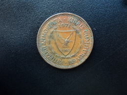 CHYPRE : 5 MILS  1971    KM 39    TTB - Cyprus