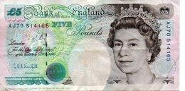 Grande Bretagne, 5 Livres, Type George Stephenson 1990 - 5 Pounds