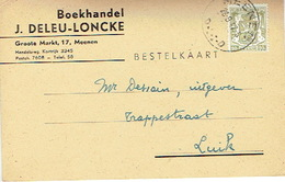 Postkaart Publicitaire MENEN 1947- J. DELEU-LONCKE - Boekhandel - Menen