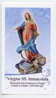 Ruffano (Lecce) - Santino VERGINE SS. IMMACOLATA Parrocchia Di San Francesco D'Assisi - PERFETTO P87 - Religione & Esoterismo