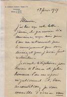 VP13.671 - MILITARIA - PARIS 1927 -  LAS - Lettre De Mr Le Général AISSIER ?? - Autographes