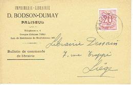 CP Publicitaire PALISEUL 1952- D. BODSON-DUMAY - Imprimerie - Librairie - Paliseul