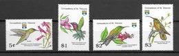 GRENADINES DE St VINCENT Oiseaux  N° 744 à 747 Neufs** Cote 8,50€ - Birds