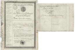 Passeport Wandre Wande Belgique 1808 Départ.de L'Outre - Documents Historiques