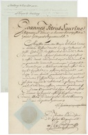 Jean Pierre Saurine Joannes Petrus Évêque De Strasbourg + Courrier Strasbourg 1802 Sentheim - Documents Historiques