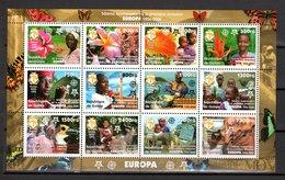 GUINEE N° 2653 à 2664  NEUFS SANS CHARNIERE COTE  20.00€  EUROPA ANIMAUX  FLEURS - Guinée (1958-...)