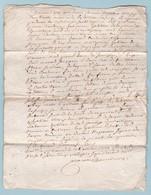 1730 - Règne De Louis XV - Licitation Manuscrite De 2 Pages - Généralité De Bordeaux - Un Sol - Coudurier - Manoscritti