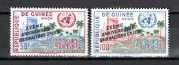 GUINEE PA N° 14 + 15  NEUFS SANS CHARNIERE COTE 3.00€  NATIONS UNIES - Guinée (1958-...)
