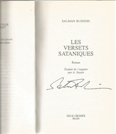 Dédicace De Salman Rushdie - Les Versets Sataniques - Books, Magazines, Comics