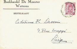 PK Publicitaire WETTEREN 1947 - DE MEESTER - Boekhandel - Wetteren