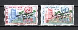 GUINEE PA N° 14 + 15 VARIETE SURCHARGE RENVERSEE  NEUFS SANS CHARNIERE COTE ? €  NATIONS UNIES - Guinée (1958-...)