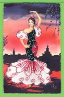 CARTE AVEC BRODERIES / TISSUS /  ESPAGNE / .... Carte Vierge - Embroidered