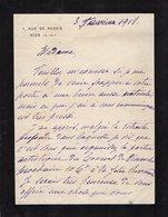 VP13.672 - NICE 1918  - LAS - Lettre De Mme La Générale MOUSSY - Autographes