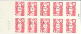 St. Pierre & Miquelon 1990-96 Booklet Pane Of Ten Self-Adhesive Die Cut - Stamps