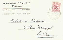 PK Publicitaire WETTEREN 1947 - SCALDIS - Boekhandel - Wetteren