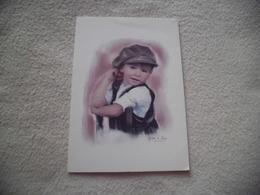 BELLE CARTE DOUBLE ..PHOTO JEUNE ENFANT ...SIGNE JEAN D'ARS... - Photographs