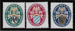 Allemagne N°368/370 - Neuf * Avec Charnière - TB - Neufs