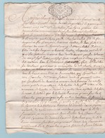 1730 - Règne De Louis XV - Bessières - Licitation Manuscrite De 4 Pages - Généralité De Bordeaux, Agennais  - Un Sol - Manuscrits