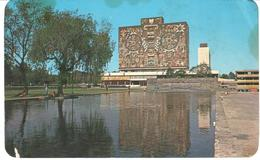 POSTAL   - MEXICO D.F.  - BIBLIOTECA DE LA C.U. CON MOSAICO MURAL DE JUAN O'GORMAN - México