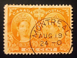 1897 Canada Yt 39, Mi 39 .  Queen Victoria's Diamond Jubilee . Oblitération MONTREAL - 1851-1902 Règne De Victoria