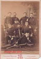 Photo Cabinet Militaire Maréchal Des Logis Officier Noms Au Verso 1860 1870 Photo Berillon Bayonne - Anciennes (Av. 1900)