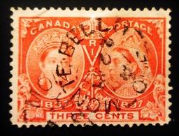 1897 Canada Yt 41, Mi 41 .  Queen Victoria's Diamond Jubilee . Oblitération MONTE BELLA - 1851-1902 Règne De Victoria