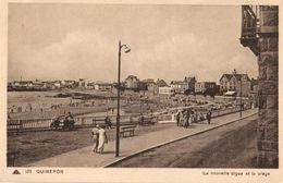 56 - QUIBERON - LA NOUVELLE DIGUE ET LA PLAGE - Quiberon