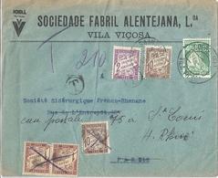 Portugal Lettre Affranchie Surtaxée - 1910-... République