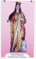 Castelvecchio Subequo AQ - Santino SANTA BARBARA - PERFETTO P87 - Religione & Esoterismo