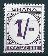 Ghana  1958  Porto 1 Sh  Mi-Nr. P 10 Postfrisch/MNH - Ghana (1957-...)
