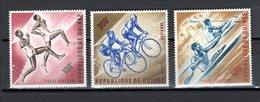 GUINEE PA N° 29 à 31  NEUFS SANS CHARNIERE COTE  16.50€  CYCLISME  AVIRON SPORT - Guinée (1958-...)
