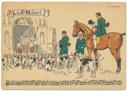 BARRE DAYEZ - La Saint Hubert, Sonneries De Trompes - 1429 T (1947-4) - Illustrateurs & Photographes