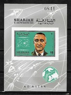#B82# SHARJAH MICHEL BL47B MNH**. SPACE. - Sharjah