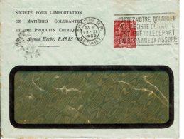 """1930 - Obl. De PARIS R.P. """"PORTEZ VOTRE COURRIER A LA POSTE DES QU'IL EST PRÊT….. """" - Tp Femme Fachi 50 Ct  N°272 - 1921-1960: Modern Period"""