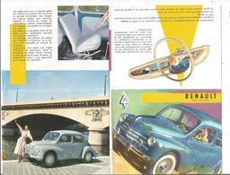 Dépliant Publicitaire, Renault 4 CV - Automovilismo
