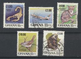 °°° LOT GHANA - Y&T N°796/97/98/800/20 - 1983/1984 °°° - Ghana (1957-...)