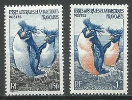 T.A.A.F. YT N°2-3 Manchots Gorfous Neuf/charnière * - Terres Australes Et Antarctiques Françaises (TAAF)