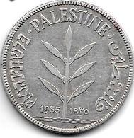 *palestina 100 Mils 1935 Km 7   Vf+ - Monnaies