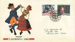 SWEDEN  1981 EUROPA CEPT  FDC - Europa-CEPT