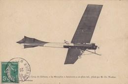 """Aérodrome Du Camp De Châlons - Le Monoplan """"Antoinette"""" En Plein Vol, Piloté Par M. CH. Wachter - Avions"""