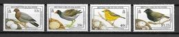 ILES VIERGES BRITANNIQUES Oiseaux N° 650 à 653 Neufs** Cote 8€ - Birds