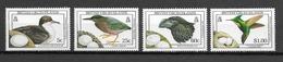 ILES VIERGES BRITANNIQUES Oiseaux N° 642 à 645 Neufs** Cote 10€ - Birds