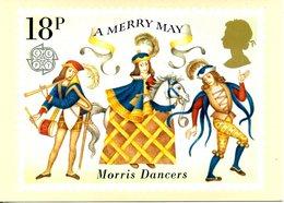 """GRANDE-BRETAGNE. N°973 De 1981 Sur Carte Premier Jour. Danseurs """"Morris"""". - Danse"""