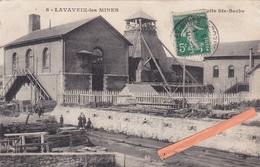 23-LAVAVEIX-les-MINES - PUITS Ste BARBE- Ecrite- 2 Cachets Lavaveix-les-Mines Et Aubusson 19/1/1913- - Francia